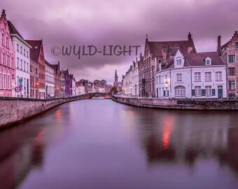 Dusk on the Brugge-Zeebrugge Canal, Belgium