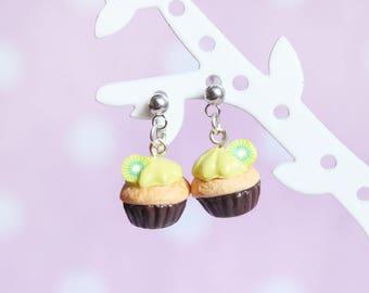 Earring dangle chips - the little kiwi cupcake
