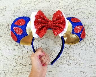 Snow White Inspired Ears - Disney Mickey Ears Headband