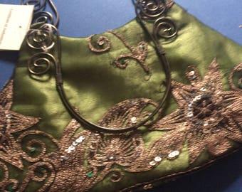Antique fabric evening hand bag
