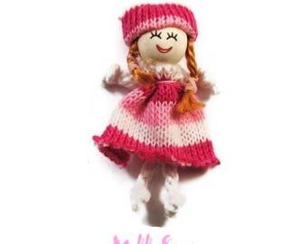 1 X 1 cardmaking scrapbooking embellishment wool doll *.