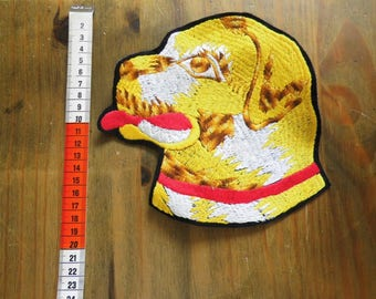 Vintage dog head applique