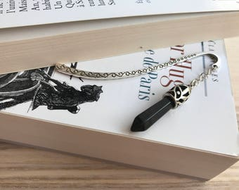 "Beautiful bookmark ""celtique"" in black crital"