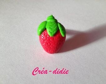 Greedy ring very red Strawberry