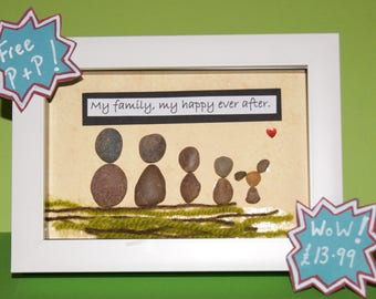Pebble Picture. My Family, My Happy Ever After. Sentimental.