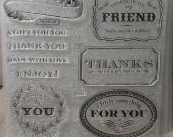 CTMH D1542 F is For Friend Acrylic Stamp Set