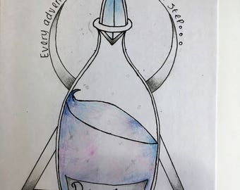 Alice in wonderland inspired bottle