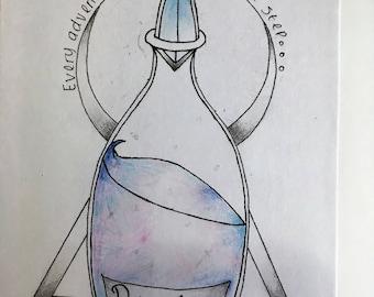 Alice in wonderland inspired bottle