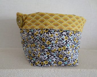 tidy made with two coordinating fabrics