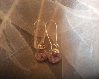 Bubble earrings on sleepers