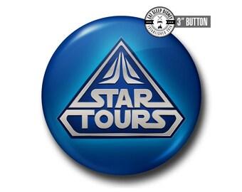 "Star Tours Ride - 3"" Button"