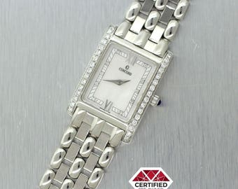 Concord Vaneto 18k White Gold MOP Diamond 0.35ctw Ladies Watch