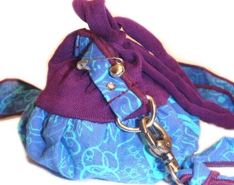 Belt + mini purse purple