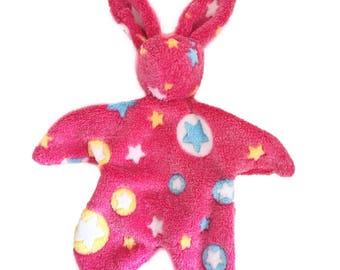 Bunny soft fleece hot pink