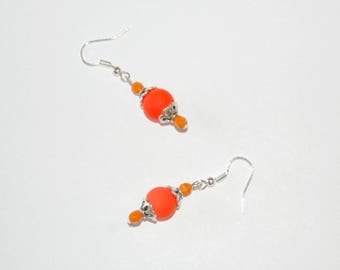 Joyful - fluorescent orange Version earrings