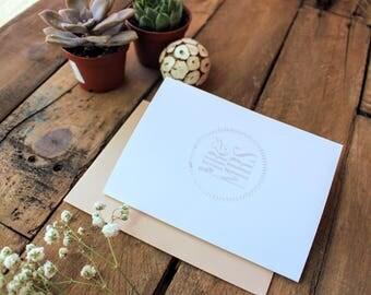 Wedding, Engagement, Wedding Shower Heat Embossed Card