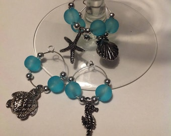 Under The Sea Creatures - Wine Glass Charms