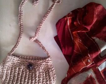 Shoulder bag Messenger bag small crocheted Ecru clutch