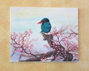 """Detailed Acrylic Painting with very vibrant colors. """"Wide-eyed Spring"""""""