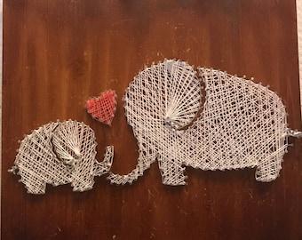 Nail Art - Elephant