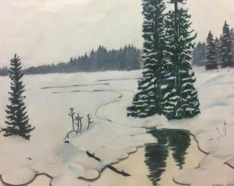Winter Wilderness Drawing
