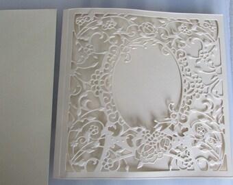 Card embossed blank with envelope