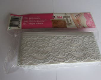 5 meters of white lace laminated