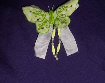Green Butterfly clip
