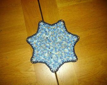 China Blue Star shaped doily