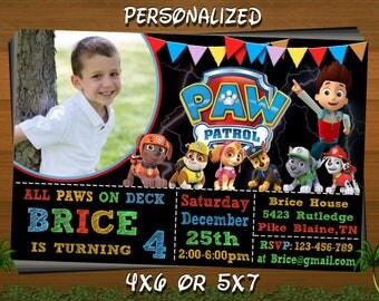 Paw Patrol Invitation, Paw Patrol Birthday Invitation, Paw Patrol, Paw Patrol Printable, Paw Patrol Birthday Card, Paw Patrol Invites
