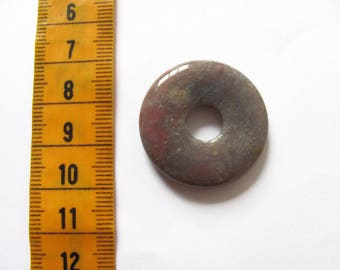 30x6mm cappuccino Jasper donut pendant