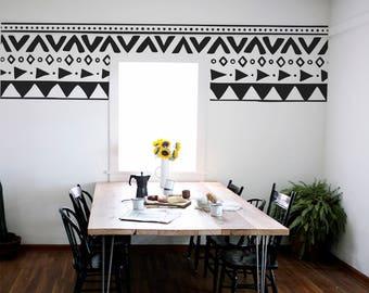 sticker salle manger etsy. Black Bedroom Furniture Sets. Home Design Ideas