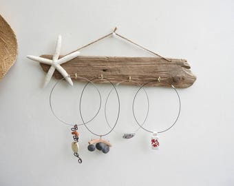 Driftwood jewelry display * starfish