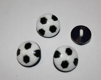 Fancy button patterned white football kids