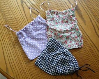 3 small reusable bags