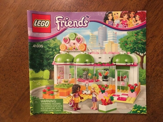 Lego Friends Instruction Manuals Gallery - writing instructions examples
