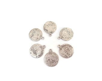 10 pieces antique silver pennies