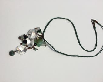 Green Chandelier Charm Necklace