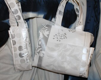 Oilcloth Tote and lunch bag set
