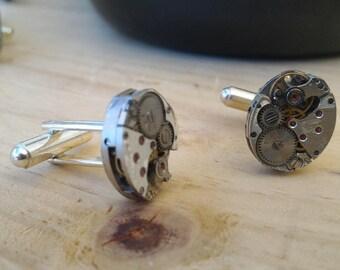 Recycled mechanisms of clockwork cufflinks