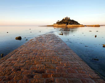 "Cornwall landscape photo: ""Causeway to St Michael's Mount"""