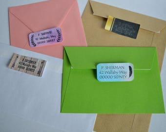 #5 self-stick address labels
