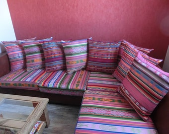 COLLECTION - SHADES OF PINK - FLOOR CUSHIONS, COVERS, PILLOWS AND SOFA ABLE COTTON