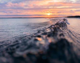 Sunset Wave, Westport, MA Fine Art Photographic Print