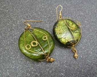 All golden earrings