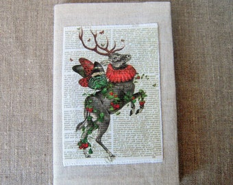 Notebook, protects - print of a deer