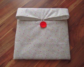 Storage pouch mixed multicolored dots pattern