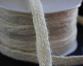 Pretty Ribbon / jute cord - ecru - 12mm - sold by 50cm