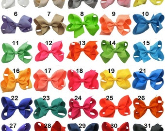 Quality 4 inch Grosgrain Ribbon Hair Bows With Aligator Clip For Baby Girls Toddler