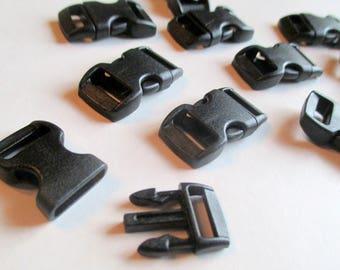 x 1 bow clip - black - 30 mm x 15 mm - plastic